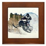 Snowmobile Framed Tiles