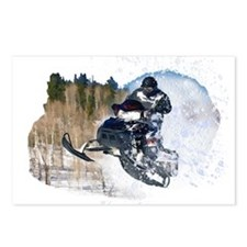 Airborne Snowmobile Postcards (Package of 8)