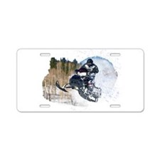 Airborne Snowmobile Aluminum License Plate