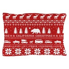 California Christmas Pillow Case