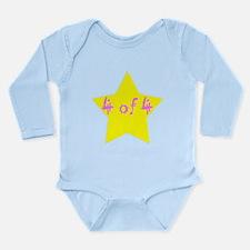 Cute Quadruplets Long Sleeve Infant Bodysuit