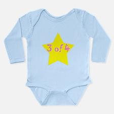 Unique Quadruplets Long Sleeve Infant Bodysuit