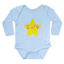 Funny Multiple babies Long Sleeve Infant Bodysuit