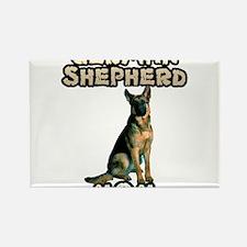Cute German shepherd Rectangle Magnet (10 pack)