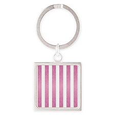 Pink Glittery Stripes Keychains