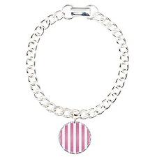 Pink Glittery Stripes Bracelet