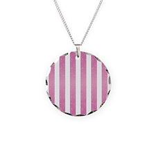 Pink Glittery Stripes Necklace