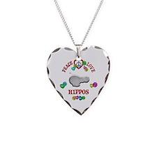 Peace Love Hippos Necklace