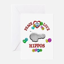 Peace Love Hippos Greeting Cards (Pk of 10)