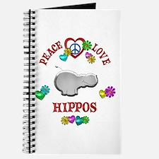 Peace Love Hippos Journal
