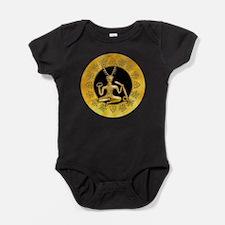 Gold Cernunnos With Snake in Circle Baby Bodysuit