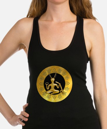 Gold Cernunnos With Snake in Ci Racerback Tank Top