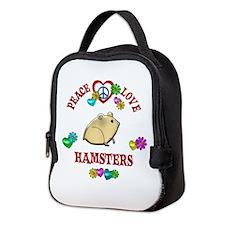 Peace Love Hamsters Neoprene Lunch Bag