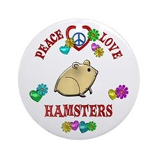 Peace Love Hamsters Ornament (Round)
