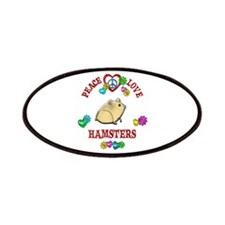 Peace Love Hamsters Patches