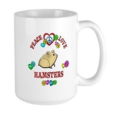 Peace Love Hamsters Mug
