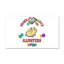 Peace Love Hamsters Car Magnet 20 x 12