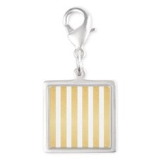 Gold Glittery Stripes Charms