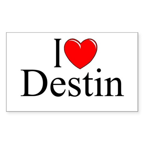"""I Love Destin"" Rectangle Sticker"