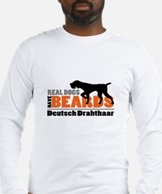 Real Dogs Have Beards - DD Long Sleeve T-Shirt