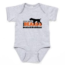 Real Dogs Have Beards - DD Baby Bodysuit