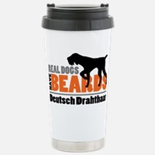 Real Dogs Have Beards - Travel Mug
