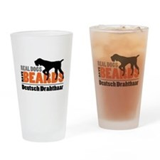 Real Dogs Have Beards - DD Drinking Glass