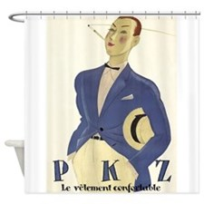 Flamboyant Male Model; Vintage Art Shower Curtain