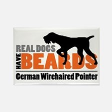 Real Dogs Have Beards Rectangle Magnet Magnets