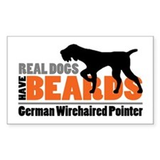 Real Dogs Have Beards - Gwp Sticker (rectangle)