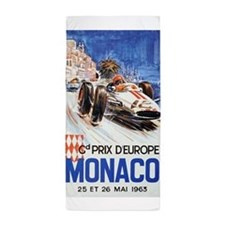 Monaco, Grand Prix, Vintage Poster Beach Towel