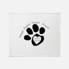 Paw print Throw Blanket