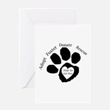 Paw print Greeting Cards