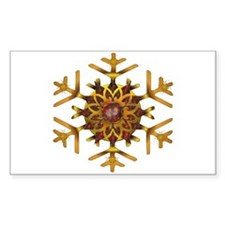 Bronze and Gold Snowflake Decal
