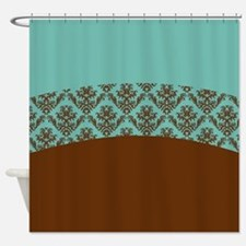 Turquoise And Brown Shower Curtains | Turquoise And Brown Fabric ...
