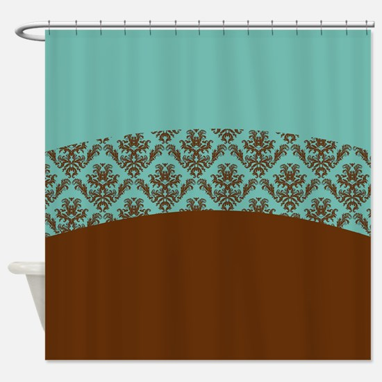 aqua and brown shower curtain. Turquoise Brown Shower Curtain And Curtains  CafePress