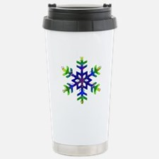 Blue and Green Bubble S Travel Mug