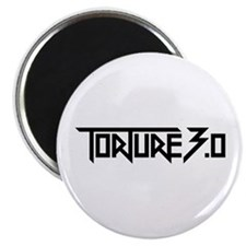 torture 3.0 black white outline Magnet
