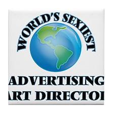 World's Sexiest Advertising Art Direc Tile Coaster
