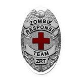 Zombie Oval Car Magnets