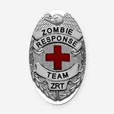 Zombie Response Team Oval Car Magnet