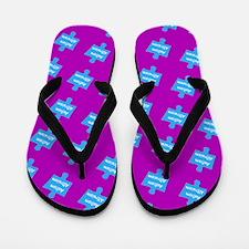 Autism Altruism Purple Blue Puzzle Flip Flops