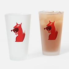 Music Fox Drinking Glass