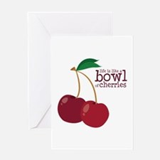 Bowl Of Cherries Greeting Cards