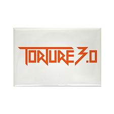 torture 3.0 orange black outline Rectangle Magnet