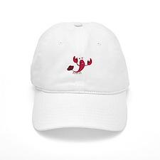 Cartoon Lobster Baseball Baseball Cap