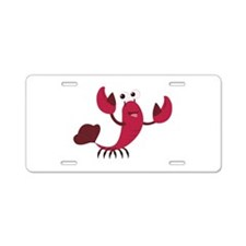 Cartoon Lobster Aluminum License Plate