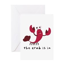 Crab Is In Greeting Cards