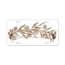 tiara Aluminum License Plate