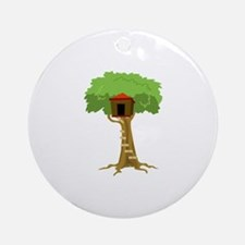 Tree House Ornament (Round)